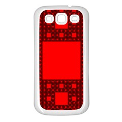 Sierpinski Carpet Plane Fractal Samsung Galaxy S3 Back Case (white)