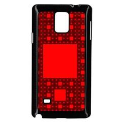 Sierpinski Carpet Plane Fractal Samsung Galaxy Note 4 Case (black)