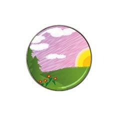 Pine Trees Trees Sunrise Sunset Hat Clip Ball Marker