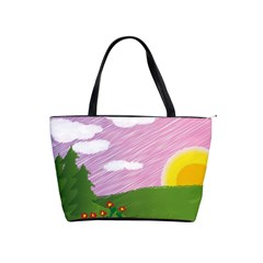 Pine Trees Trees Sunrise Sunset Shoulder Handbags