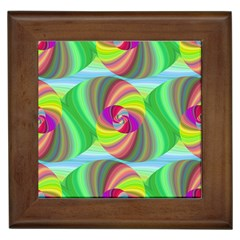 Seamless Pattern Twirl Spiral Framed Tiles