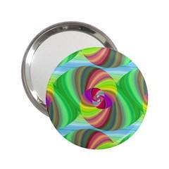 Seamless Pattern Twirl Spiral 2 25  Handbag Mirrors