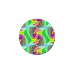 Seamless Pattern Twirl Spiral Golf Ball Marker (4 Pack)