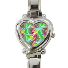Seamless Pattern Twirl Spiral Heart Italian Charm Watch