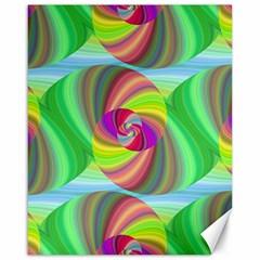 Seamless Pattern Twirl Spiral Canvas 16  X 20