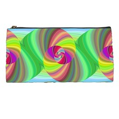 Seamless Pattern Twirl Spiral Pencil Cases by Sapixe