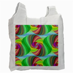 Seamless Pattern Twirl Spiral Recycle Bag (one Side)