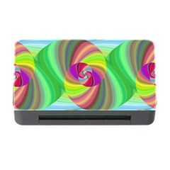 Seamless Pattern Twirl Spiral Memory Card Reader With Cf
