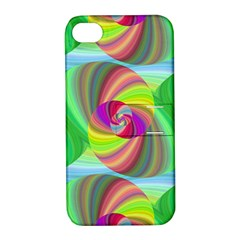 Seamless Pattern Twirl Spiral Apple Iphone 4/4s Hardshell Case With Stand