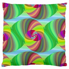 Seamless Pattern Twirl Spiral Large Flano Cushion Case (two Sides)