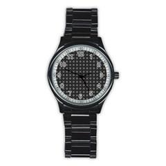 Kaleidoscope Seamless Pattern Stainless Steel Round Watch