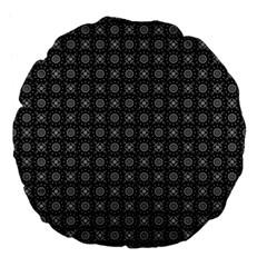 Kaleidoscope Seamless Pattern Large 18  Premium Flano Round Cushions