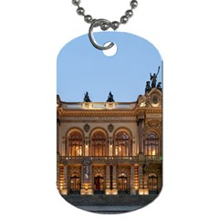 Municipal Theatre Of Sao Paulo Brazil Dog Tag (two Sides)