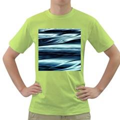 Texture Fractal Frax Hd Mathematics Green T Shirt