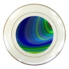 Space Design Abstract Sky Storm Porcelain Plates