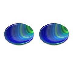 Space Design Abstract Sky Storm Cufflinks (oval)