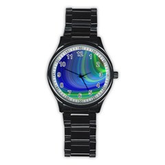 Space Design Abstract Sky Storm Stainless Steel Round Watch