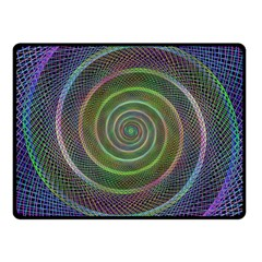 Spiral Fractal Digital Modern Fleece Blanket (small) by Sapixe