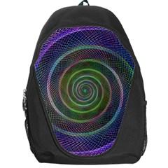 Spiral Fractal Digital Modern Backpack Bag