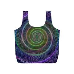 Spiral Fractal Digital Modern Full Print Recycle Bags (s)