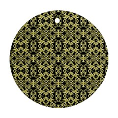 Golden Ornate Intricate Pattern Ornament (round)