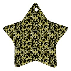 Golden Ornate Intricate Pattern Ornament (star)