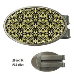 Golden Ornate Intricate Pattern Money Clips (oval)