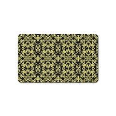 Golden Ornate Intricate Pattern Magnet (name Card)