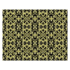 Golden Ornate Intricate Pattern Rectangular Jigsaw Puzzl