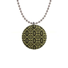 Golden Ornate Intricate Pattern Button Necklaces