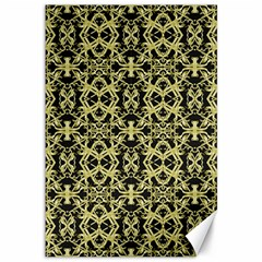 Golden Ornate Intricate Pattern Canvas 12  X 18