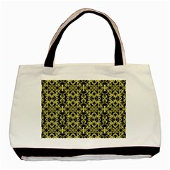 Golden Ornate Intricate Pattern Basic Tote Bag (two Sides)