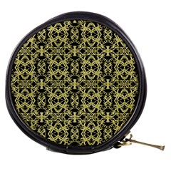 Golden Ornate Intricate Pattern Mini Makeup Bags
