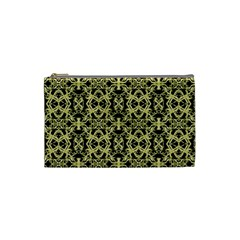 Golden Ornate Intricate Pattern Cosmetic Bag (small)