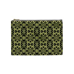 Golden Ornate Intricate Pattern Cosmetic Bag (medium)