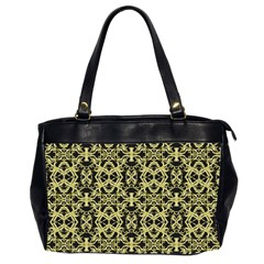 Golden Ornate Intricate Pattern Office Handbags (2 Sides)