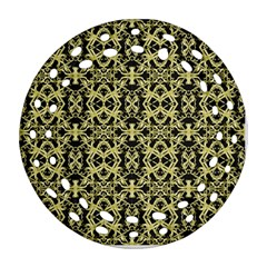 Golden Ornate Intricate Pattern Ornament (round Filigree)