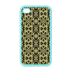Golden Ornate Intricate Pattern Apple Iphone 4 Case (color)