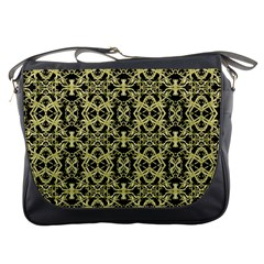 Golden Ornate Intricate Pattern Messenger Bags