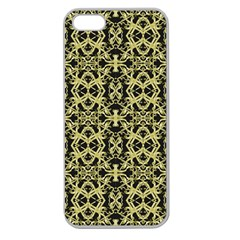 Golden Ornate Intricate Pattern Apple Seamless Iphone 5 Case (clear)