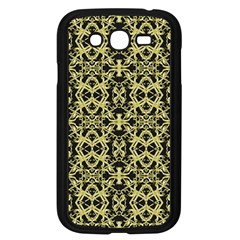 Golden Ornate Intricate Pattern Samsung Galaxy Grand Duos I9082 Case (black)