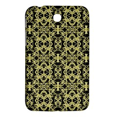 Golden Ornate Intricate Pattern Samsung Galaxy Tab 3 (7 ) P3200 Hardshell Case