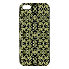 Golden Ornate Intricate Pattern Iphone 5s/ Se Premium Hardshell Case