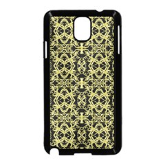 Golden Ornate Intricate Pattern Samsung Galaxy Note 3 Neo Hardshell Case (black)