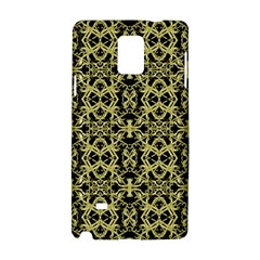 Golden Ornate Intricate Pattern Samsung Galaxy Note 4 Hardshell Case