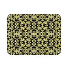 Golden Ornate Intricate Pattern Double Sided Flano Blanket (mini)