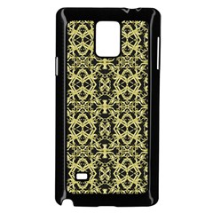 Golden Ornate Intricate Pattern Samsung Galaxy Note 4 Case (black)