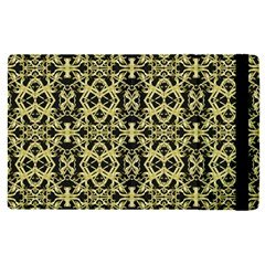 Golden Ornate Intricate Pattern Apple Ipad Pro 9 7   Flip Case
