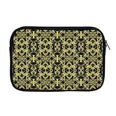 Golden Ornate Intricate Pattern Apple Macbook Pro 17  Zipper Case