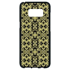Golden Ornate Intricate Pattern Samsung Galaxy S8 Black Seamless Case